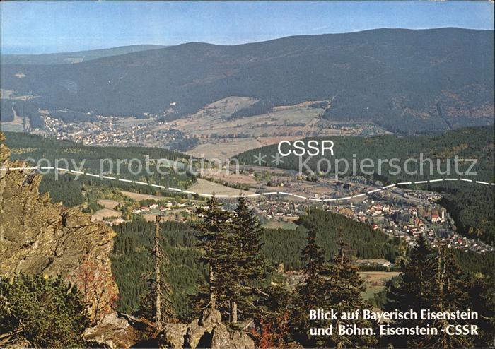 Grenze Douane Zoll Bayerisch  und Boehmisch Eisenstein CSSR  Kat. Zoll