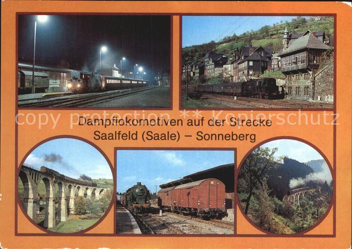 Lokomotive Dampflokomotiven Strecke Saalfeld Sonneberg  Kat. Eisenbahn