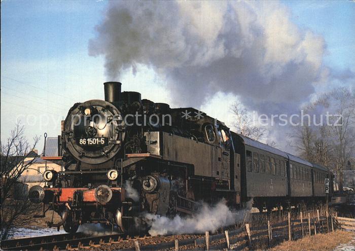 Lokomotive Einheitsgueterzugtenderlokomotive 861501 Strecke Schlettau  Kat. Eisenbahn