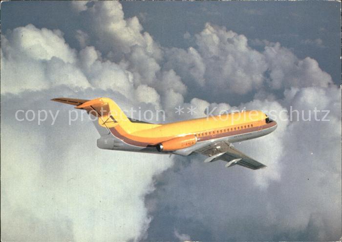 Flugzeuge Zivil Aviaction Fokker F.28 Fellowship Kat. Airplanes Avions
