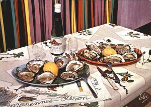 Lebensmittel Huitres Austern Marennes Oleron Kat. Lebensmittel