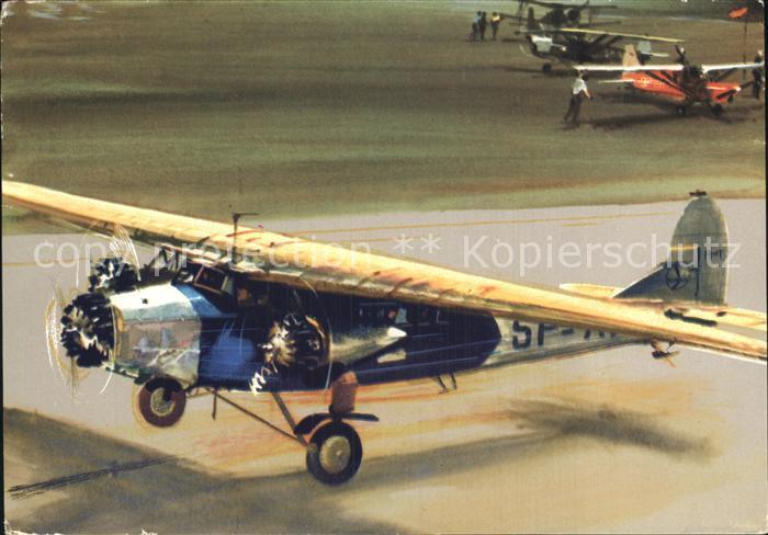 Flugzeuge Zivil Polish Airlines Fokker F VII  Kat. Airplanes Avions