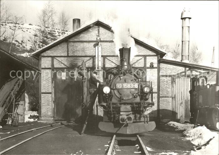 Lokomotive 991583 6 Schmalspurbahn Wolkenstein   Joehstadt  Kat. Eisenbahn