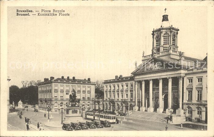 Strassenbahn Bruxelles Place Royale  Kat. Strassenbahn