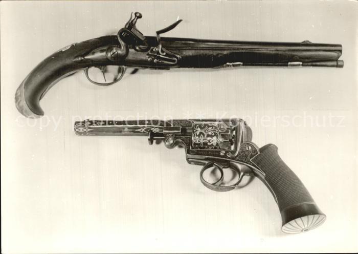 Militaria Waffen Steinschlosspistole Adams Revolver Waffenmuseum Suhl  Kat. Militaria