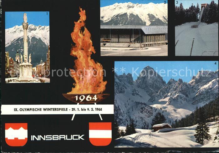 Olympia IX. Olympische Winterspiele Innsbruck  Kat. Sport