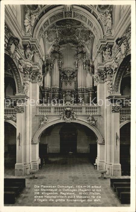 Kirchenorgel Hauptspieltisch Domorgel Passau Kat Musik Nr Dp72821