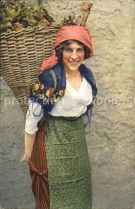 Trachten Schweiz Costume Ticinese  Kat. Trachten