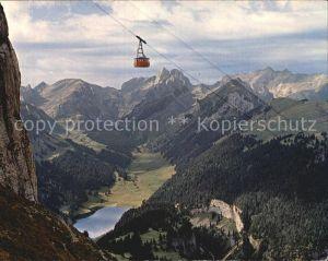 Ak Ansichtskarte Seilbahn Hoher Kasten Saentis Kat Bahnen