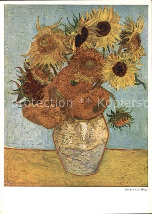 Van Gogh Vincent Sonnenblumen Kat Kuenstlerkarte Nr Ks84584