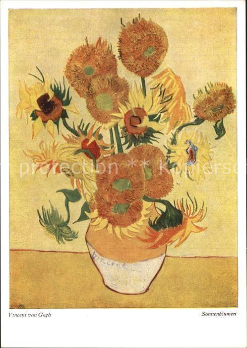 Van Gogh Vincent Sonnenblumen Verlag Wiechmann Nr 228 Kat