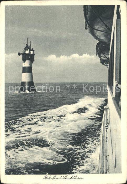 Leuchtturm Lighthouse Rote Sand Leuchtturm  Kat. Gebaeude