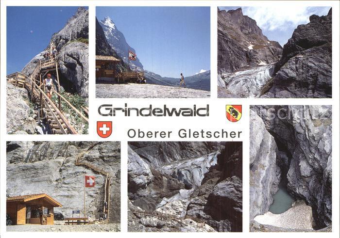 Gletscher Grindelwald Oberer Gletscher  Kat. Berge