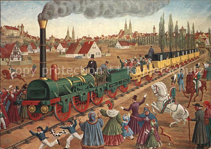 lokomotive erste deutsche eisenbahn nuernberg fuerth 1835 e schilling kat eisenbahn nr. Black Bedroom Furniture Sets. Home Design Ideas
