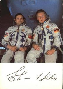 Raumfahrt Kosmosflug Fliegerkosmonauten Waleri Bykowski Sigmund Jaehn Kat. Flug
