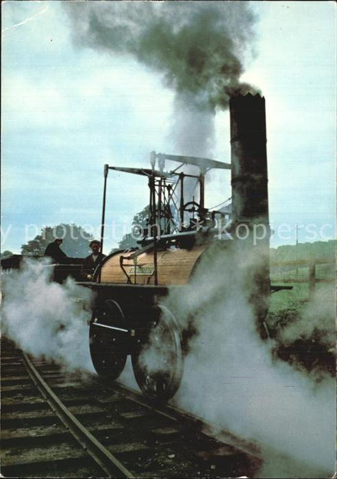 Lokomotive Locomotion Stockton ans Darlington Railway Beamish Kat. Eisenbahn
