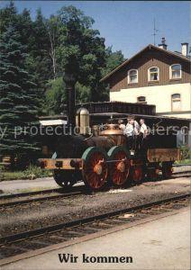 Lokomotive Dampflokomotive Saxonia Bahnhof Annaberg Buchholz Sued  Kat. Eisenbahn