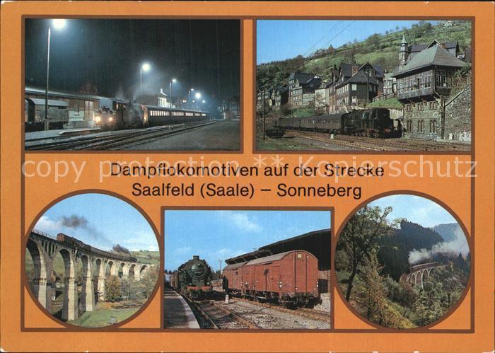 Eisenbahn Dampflokomotiven Strecke Saalfeld Sonneberg Steinach Lauscha  Kat. Eisenbahn