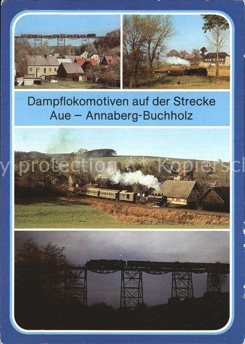 Eisenbahn Dampflokomotiven Strecke Aue Annaberg Buchholz Schlettau Kat. Eisenbahn