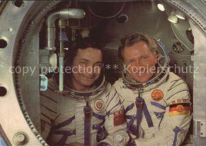 Raumfahrt Kosmosflug UdSSR DDR Fliegerkosmonauten Waeri Bykowski Sigmund Jaehn Sojus Komplextrainer  Kat. Flug