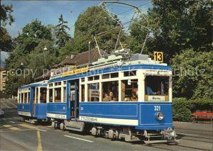 Strassenbahn Motorwagen Ce 4 4 Nr. 321 Zuerich  Kat. Strassenbahn