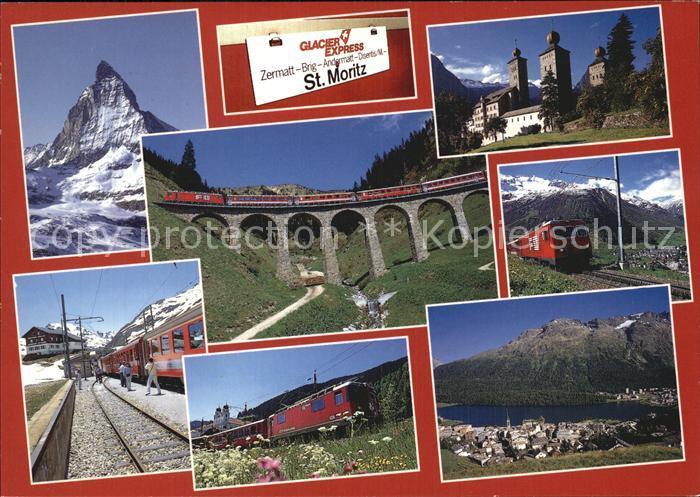 Eisenbahn Glacier Express Matterhorn Zermatt Stockaperschloss Brig  Kat. Eisenbahn