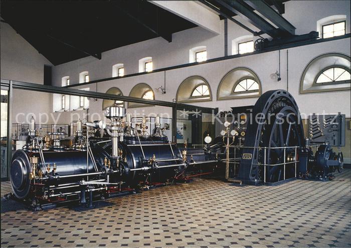Technik Tandemverbund Dampfmaschine Schwungradgenerator 1904 Gaswerk