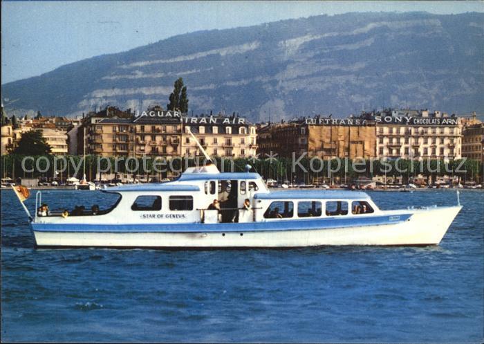 Motorschiffe Star of Geneva Geneva Rade Mont Blanc  Kat. Schiffe