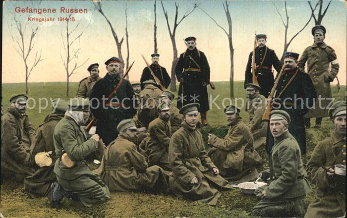 Militaria Kriegsgefangene Gefamgene Russen WK1