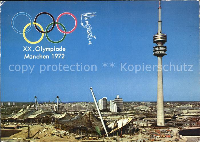 Olympia XX. Olympiade Muenchen Olympiaturm  Kat. Sport