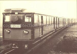 U Bahn Subway Underground Metro U Bahnzug Baujahr 1927 Triebwagen Nr. 326 Hamburg
