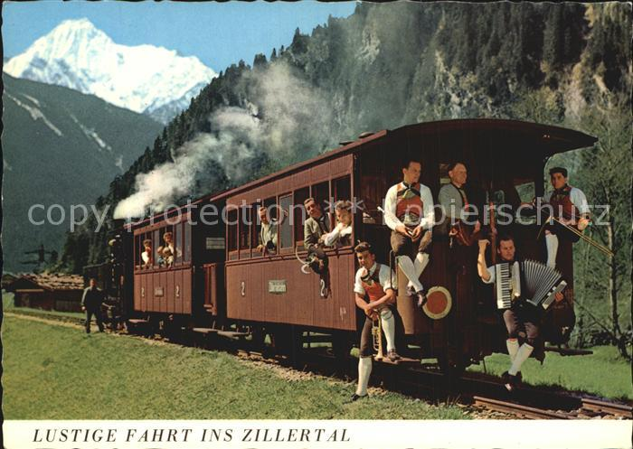 Musikanten Zillertalbahn Akkordeon Trompete Posaune Kat. Musik