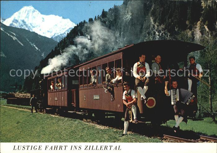 Musikanten Akkordeon Posaune Trompete Zillertalbahn  Kat. Musik