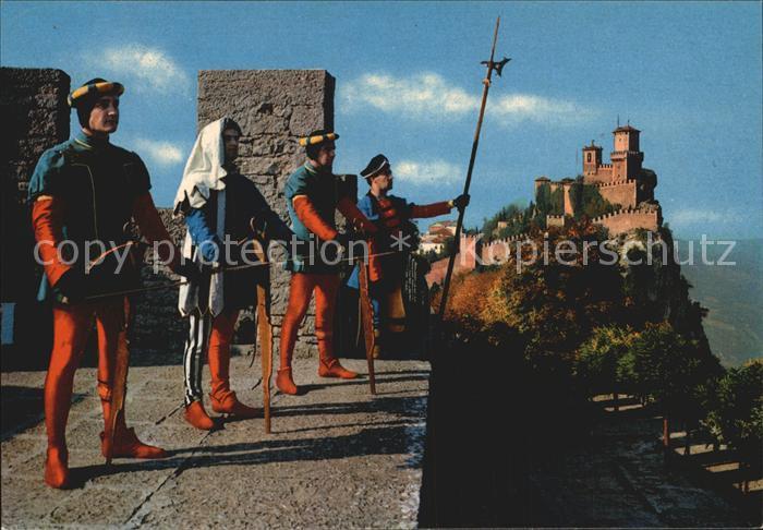 Leibgarde Wache Balestrieri Repubblica di S. Marino Prima Torre  Kat. Polizei