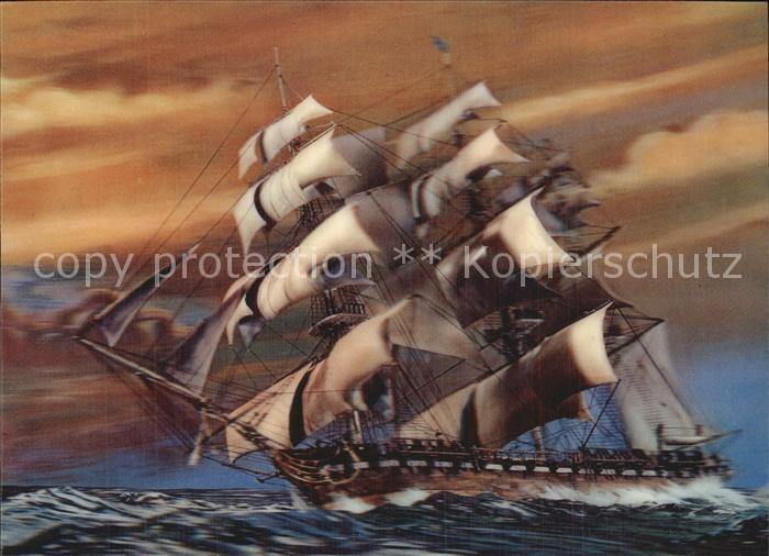 Segelschiffe 3D Karte Kat. Schiffe