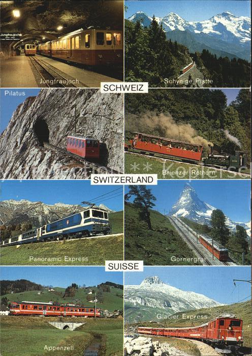 Eisenbahn Touristische Bahnen Schweiz Pilatus Gornergrat Appenzell  Kat. Eisenbahn