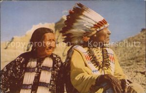 Indianer Native American Indian Chief and Squaw Kat. Regionales