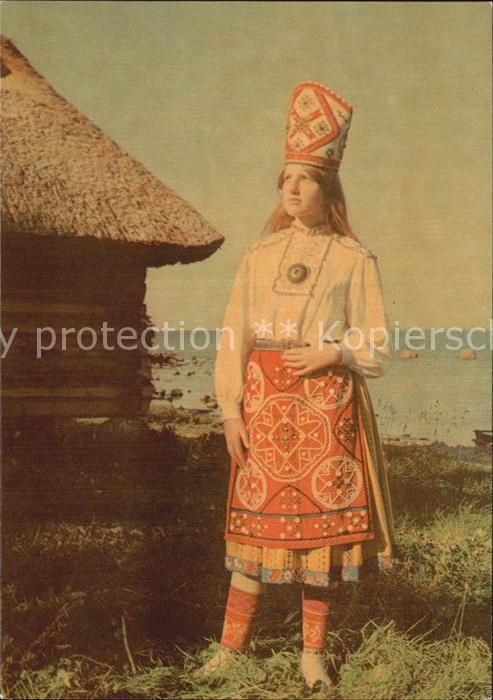 Trachten Estland Insel Muhu Braut Kat. Trachten