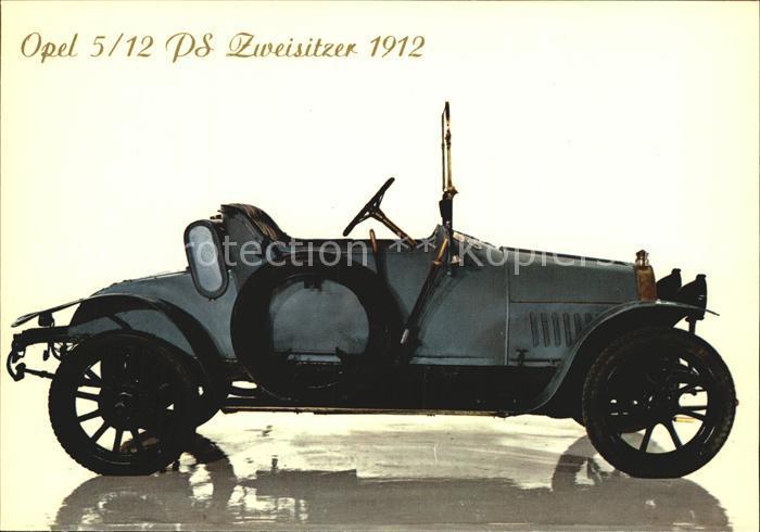 Autos Opel 5 12 PS Zweisitzer 1912 Kat. Autos