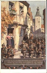 Hey Paul Nr. 2 Soldatenliederkarte Wenn die Soldaten durch die Stadt marschieren Kat. Kuenstlerkarte