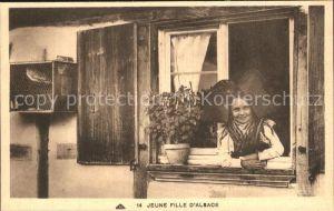 Trachten Alsace Jeune Fille  Kat. Trachten