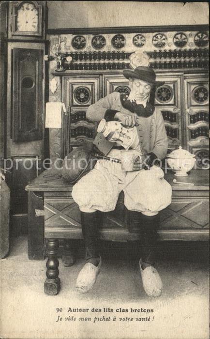 Trachten Frankreich Auteur des lits clos bretons  Kat. Trachten