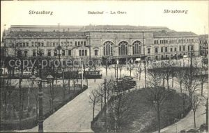 Strassenbahn Strasbourg Gare Bahnhof  Kat. Strassenbahn