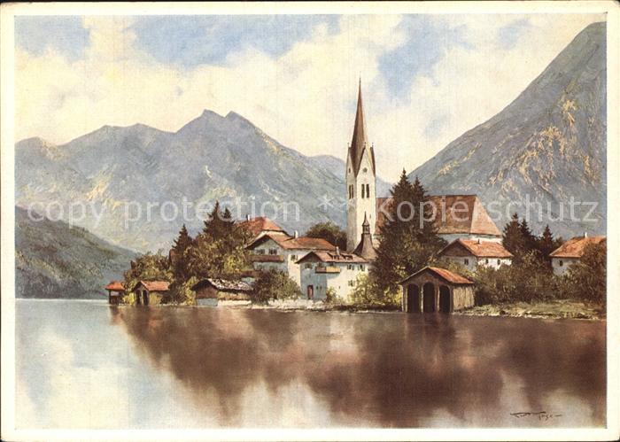 Kuenstlerkarte K. Moser Egern am Tegernsee  Kat. Kuenstlerkarte