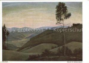 Verlag Wiechmann Nr. 382 Otto Kast Abend im Schwarzwald  Kat. Verlage