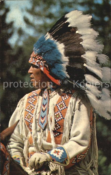 Indianer Native American Head Dress Kat. Regionales