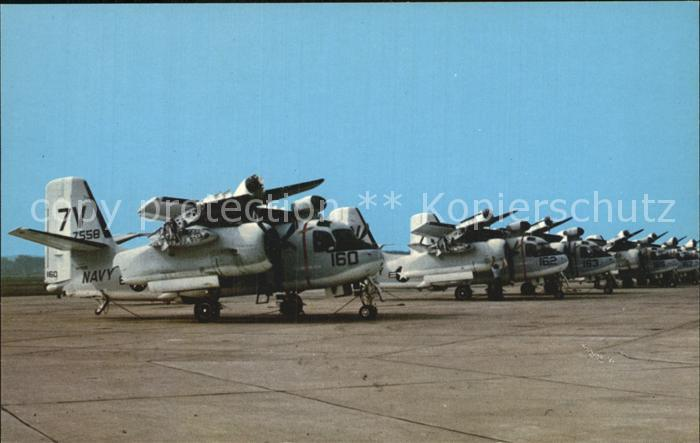 Flugzeuge Militaria GN.1 Grumman S2F Trackers Naval Air Station Glenview Kat. Airplanes Avions