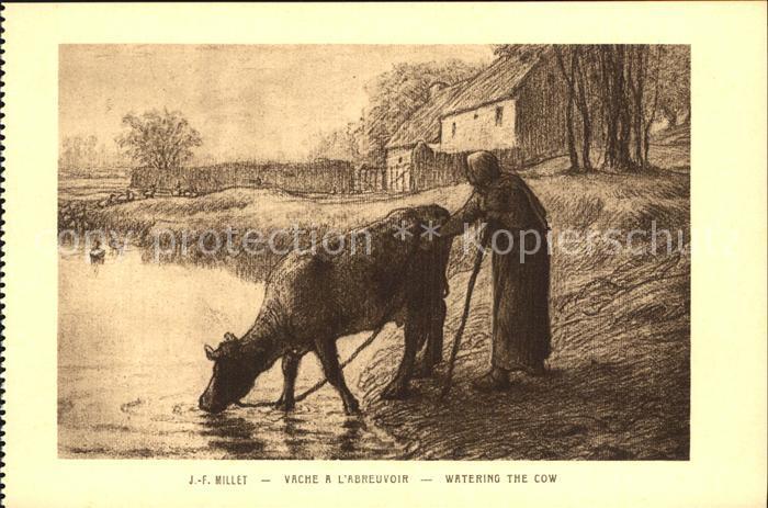 Millet Jean Francois Vache a l Abreuvoir