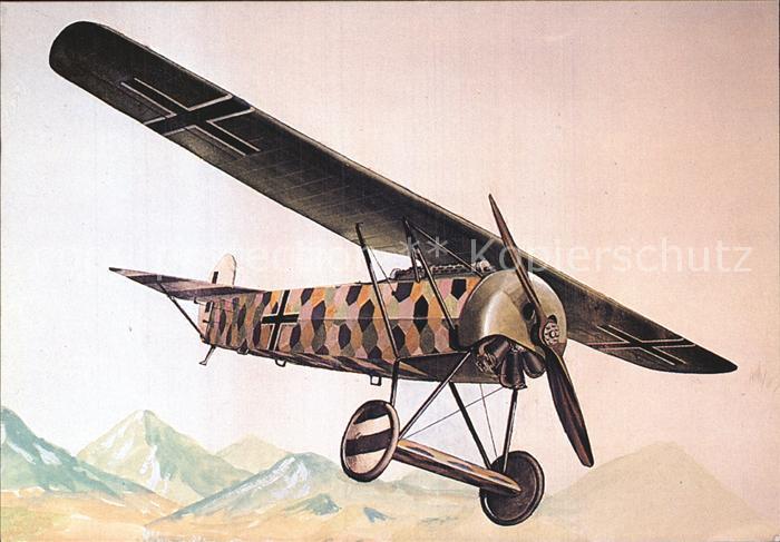 Flugzeuge Zivil Fokker D VIII Duitsland 1914 Kat. Airplanes Avions