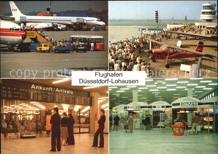 Flughafen Airport Aeroporto Duesseldorf Lohausen Flugzeuf SAS  Kat. Flug